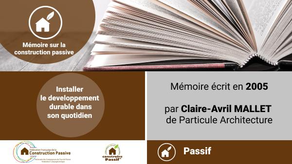 Mémoire sur la Construction Passive (2005)